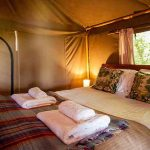 Safari tent double bed