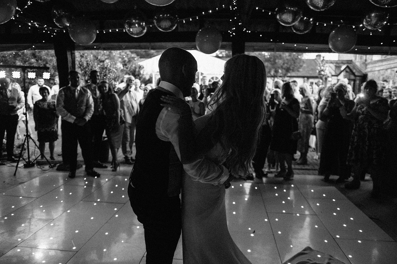 First dance in rustic barn at East Afton Farmhouse
